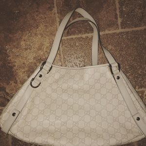 Gucci Guccissima cream tote w dust bag
